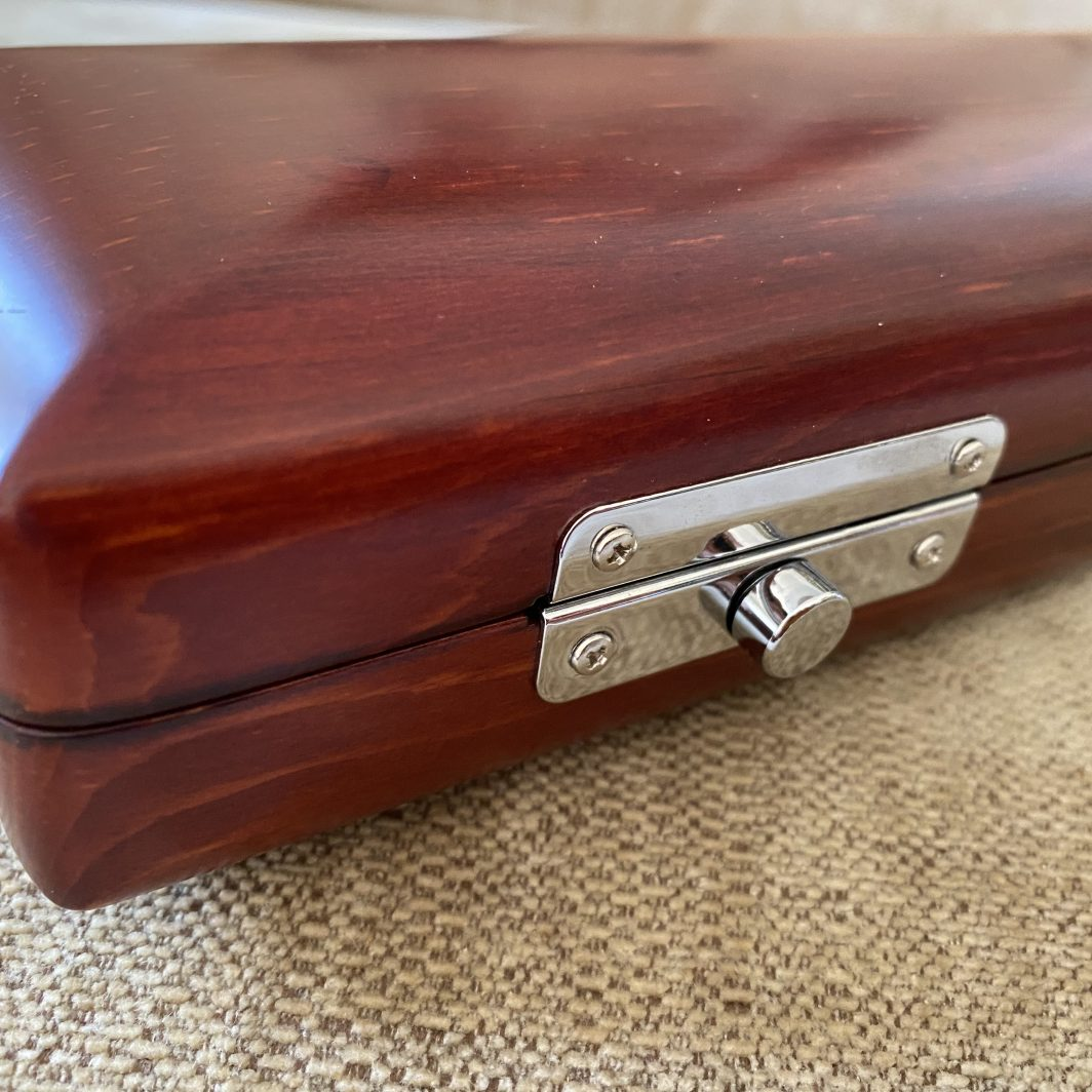 Solid wood flute case
