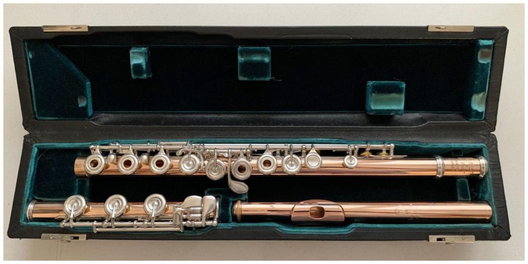 Lillian Burkart 14K Gold Flute - Open Holes, B-Foot