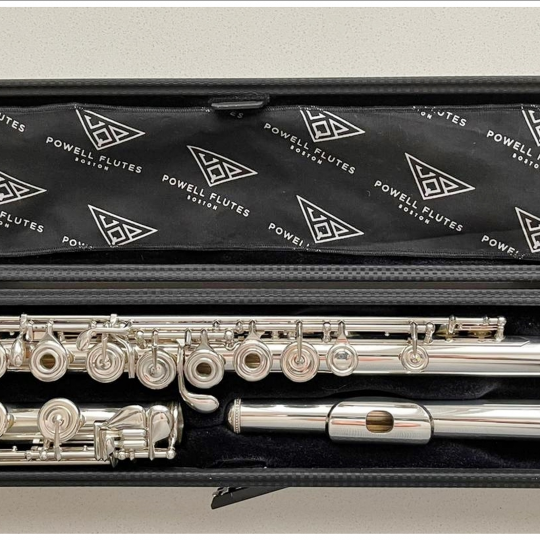 Powell Signature Solid Silver Flute - Open Holes, B-Foot