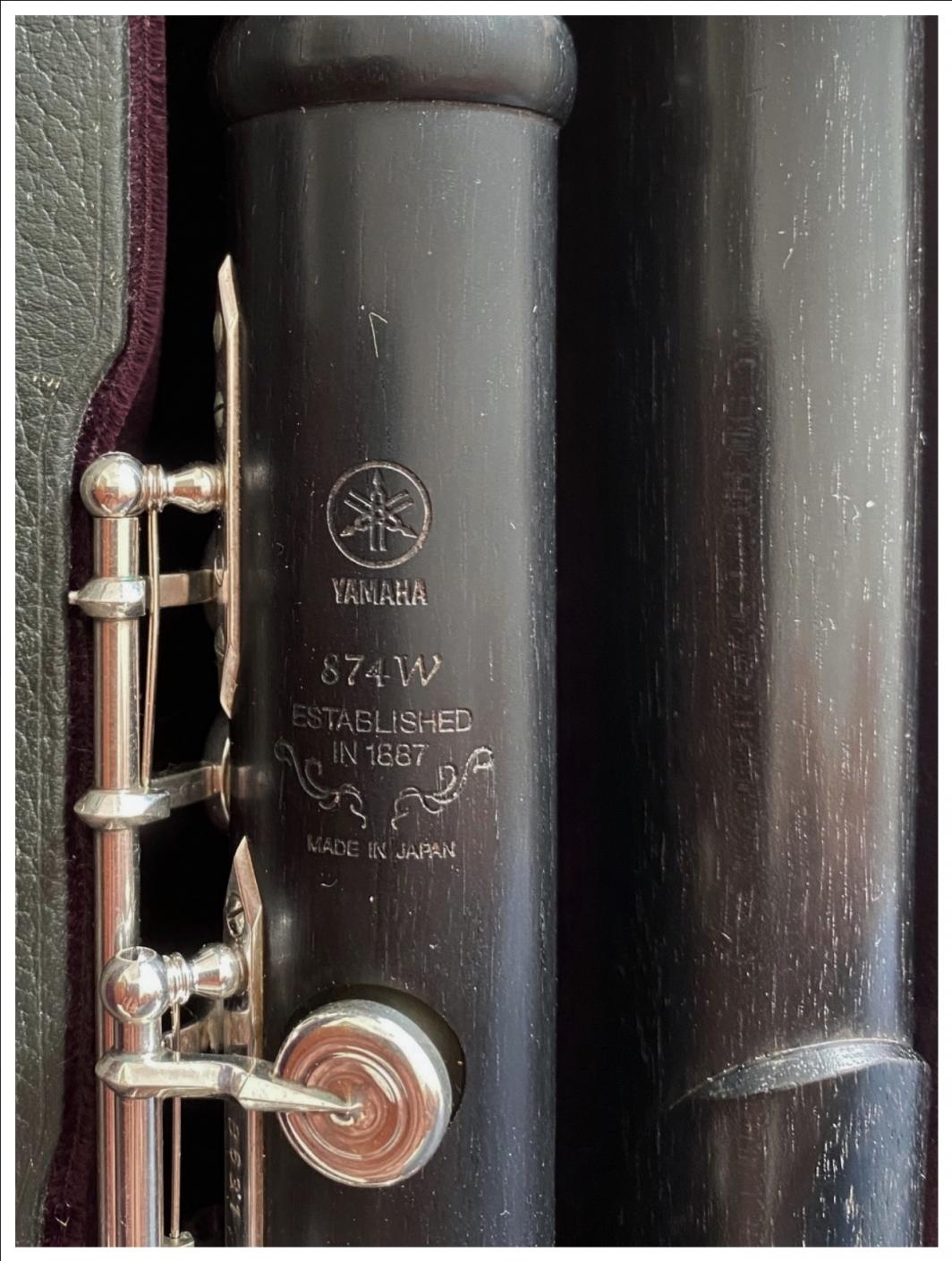 Yamaha 874W wooden Flute - Open Holes, Split E, B-Foot