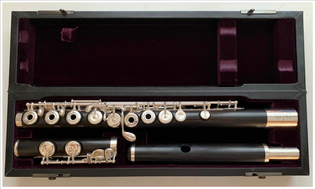 Sankyo wooden Flute - Grenadilla, Open Holes