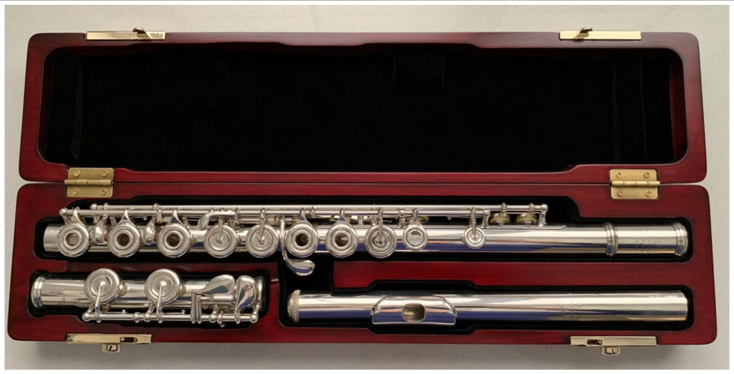 Powell Conservatory Flute - Solid silver, open holes