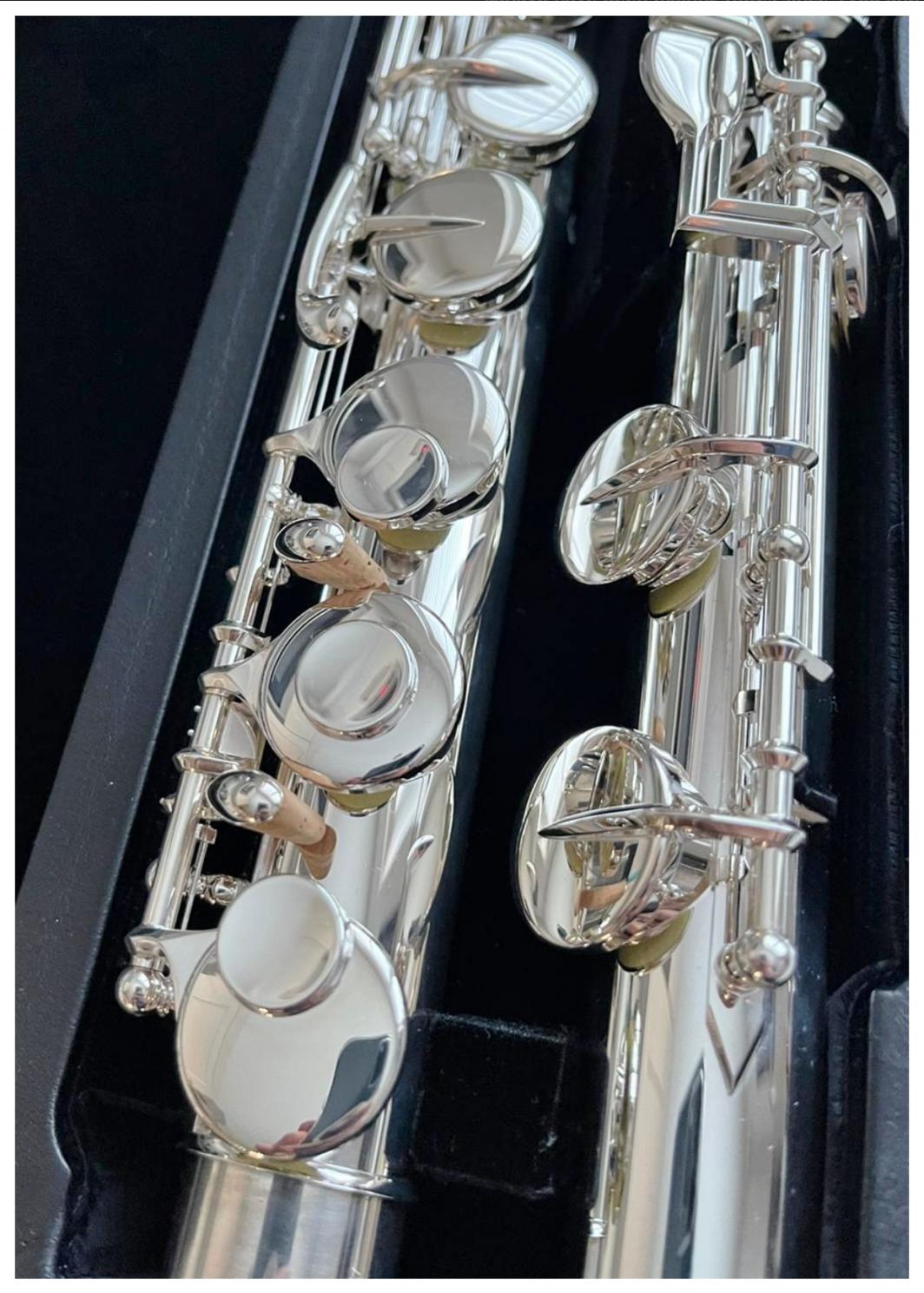Sankyo AF201 Alto Flute - Silver Head, Closed Holes